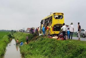 Tai nạn liên hoàn trên đường dẫn nối cao tốc Ninh Bình - Cầu Giẽ