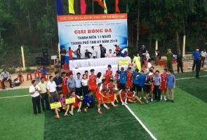 Tam Kỳ - phường Hòa Hương vô địch bóng đá 11 người