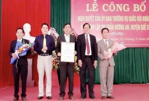 Quế Sơn- Công bố thành lập thị trấn Hương An