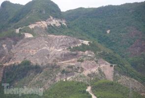 Cận cảnh núi Bằng Am nham nhở đang bị Quảng Nam yêu cầu thanh tra