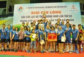 Giải Cầu lông các câu lạc bộ tỉnh năm 2020: Câu lạc bộ Phan Châu Trinh giành cúp toàn đoàn