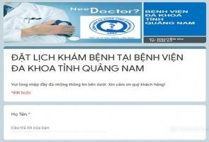 Bệnh viện Đa khoa Quảng Nam triển khai đăng ký khám chữa bệnh online