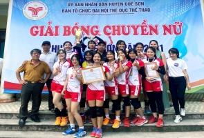 Thị trấn Đông Phú vô địch Giải bóng chuyền nữ huyện Quế Sơn
