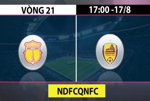 Vòng 21 VLeague 2019 - Nam Định vs Quảng Nam