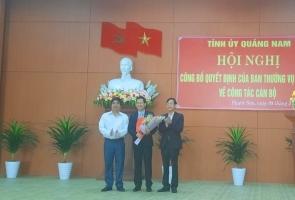 PHƯỚC SƠN- Điều động ông Lê Quang Trung giữ chức vụ Phó Bí thư Huyện ủy