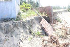 Duy Xuyên: Bờ biển xã Duy Hải bị sạt lở nghiêm trọng