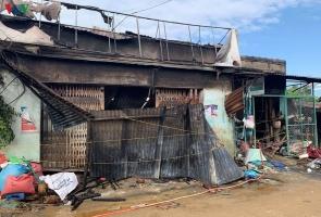 Duy Xuyên- Tiệm tạp hóa chứa đầy hàng tết cháy rụi, 2 tỷ đồng ra tro