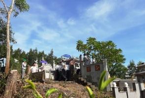 Đại Lộc- Đón nhận Bằng xếp hạng di tích cấp tỉnh mộ cụ Lương Thúc Kỳ