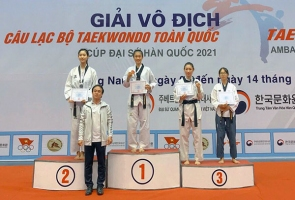 Bế mạc Giải vô địch các câu lạc bộ Taekwondo năm 2021