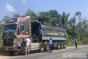 Thanh tra dàn trận xử lý xe quá tải, quá khổ ở Đà Nẵng-Quảng Nam