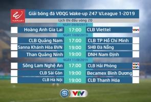 Lịch thi đấu và trực tiếp vòng 20 V.League 2019