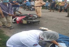 Điện Bàn- cô gái trẻ đi xe máy gục chết sau tiếng nổ lớn phát ra từ đống rác