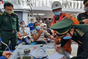 Cứu nạn 40 thuyền viên trên tàu cá Quảng Nam bị trôi dạt trên biển